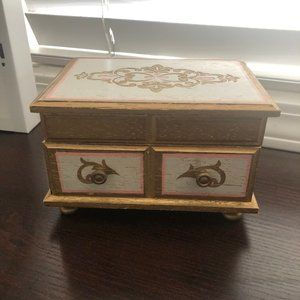 Vintage Music Box Jewelry Box